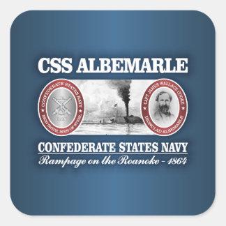 CSS Albemarle (CSN) Pegatina Cuadrada