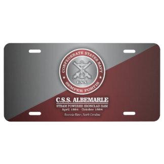 CSS Albemarle (SF) License Plate
