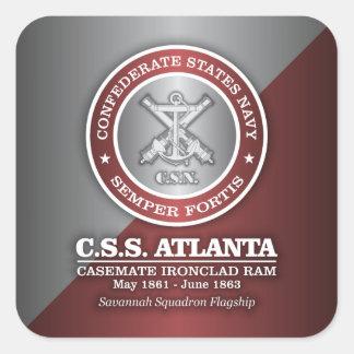 CSS Atlanta (SF) Pegatina Cuadrada