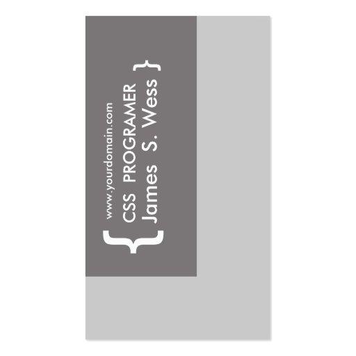 CSS Computer Programer Design Business Card Templates