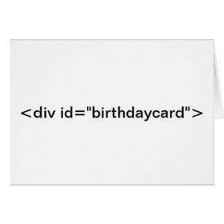 """CSS <div id=""""birthdaycard""""> Birthday Card"""