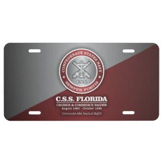 CSS Florida (SF) License Plate