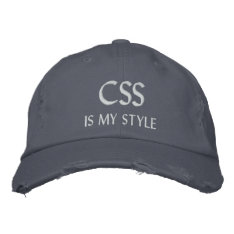 Css Is My Style Funny Geek Computing Hat at Zazzle