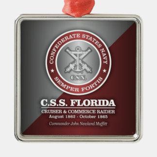 CSS la Florida (SF) Adorno Navideño Cuadrado De Metal