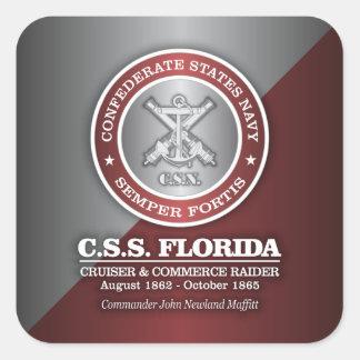 CSS la Florida (SF) Pegatina Cuadrada