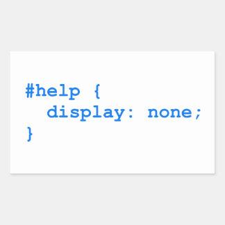 CSS no help Pegatina Rectangular