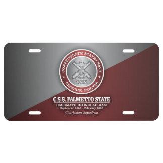 CSS Palmetto State (SF) License Plate