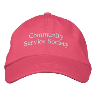 CSS Pink with White Letters Embroidered Baseball Cap
