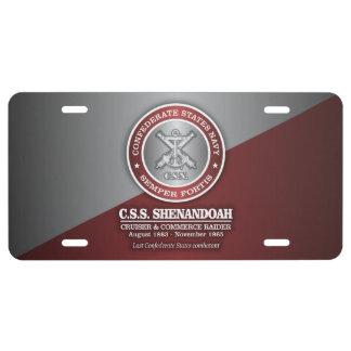 CSS Shenandoah (SF) License Plate
