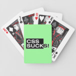 CSS Sucks Bicycle Playing Cards