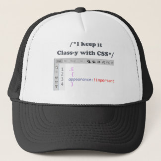 CSS Techie Humor Shirt Trucker Hat