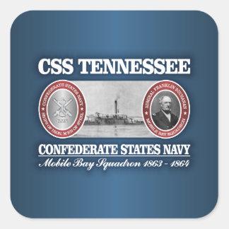 CSS Tennessee (CSN) Pegatina Cuadrada