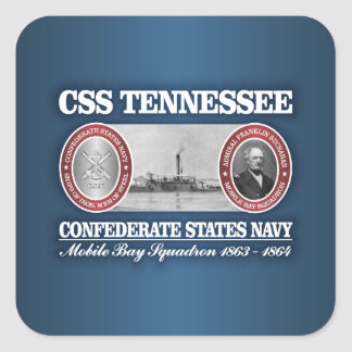 CSS Tennessee (CSN) Square Sticker
