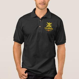 CSS Virginia (Navy Emblem) gold Polo Shirt