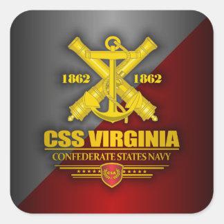 CSS Virginia (Navy Emblem) gold Square Sticker