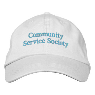 CSS White with Crystal Blue Letters Embroidered Baseball Cap