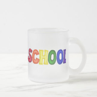 CSSW COLORFUL SCHOOL SCRAP-BOOKING GRAPHIC ART EDU FROSTED GLASS COFFEE MUG