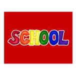 CSSW COLORFUL SCHOOL SCRAP-BOOKING GRAPHIC ART EDU POSTCARD