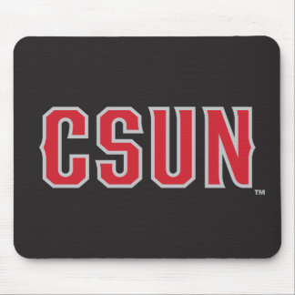 CSUN Logo on Black Mouse Pad