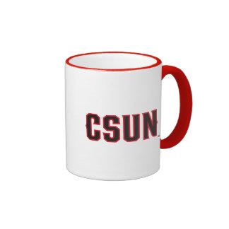 CSUN Logo on Red Ringer Coffee Mug