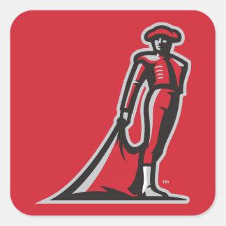 CSUN Matador - Red Square Sticker