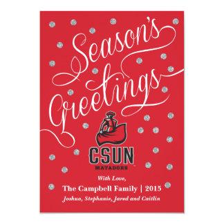 CSUN Matador with Cape - Red 5x7 Paper Invitation Card