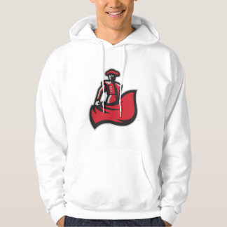 CSUN Matador with Cape - White Hoodie