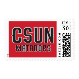 CSUN Matadors - Black with Gray Outline Postage