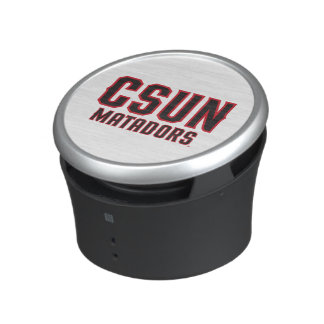 CSUN Matadors - Black with Red Outline Bluetooth Speaker
