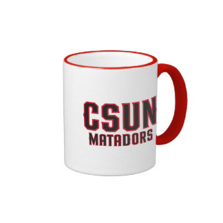 CSUN Matadors - Black with Red Outline Ringer Coffee Mug