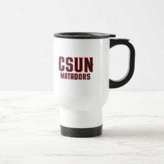 CSUN Matadors - Black with Red Outline Travel Mug