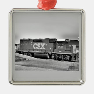 CSX #2562  - Premium Square Ornament