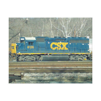 CSX Diesel Engine Stretched Canvas Print