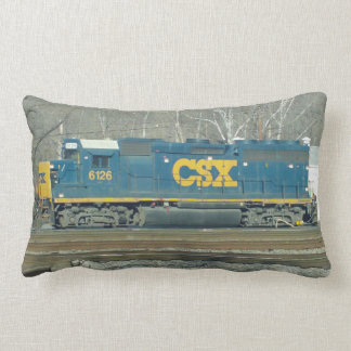 CSX Engine and Crossing Signal Pillow. Throw Pillows