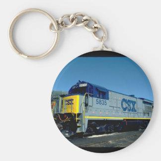 CSX GE B36-7 #5835, 1990_Trains Keychain