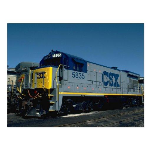 CSX GE B36-7 POST CARD