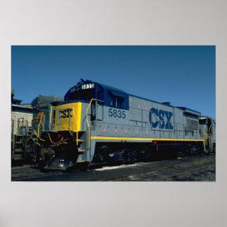 CSX GE B36-7 POSTER