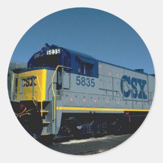CSX GE B36-7 ROUND STICKER