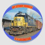 CSX Locomotive Classic Round Sticker