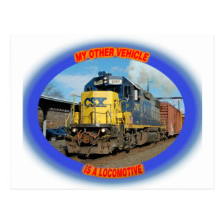 CSX Locomotive Postcard