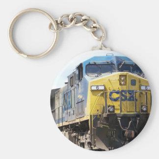 CSX Railroad AC4400CW #6 con un tren del carbón Llavero Redondo Tipo Pin