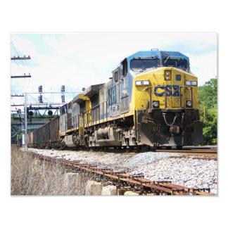 CSX Railroad AC4400CW 6 con un tren del carbón Arte Fotográfico