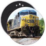 CSX Railroad AC4400CW #6 con un tren del carbón Pin