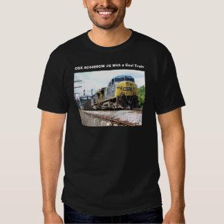 CSX Railroad AC4400CW #6 con un tren del carbón Playeras
