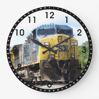 CSX Railroad AC4400CW #6 con un tren del carbón Reloj De Pared