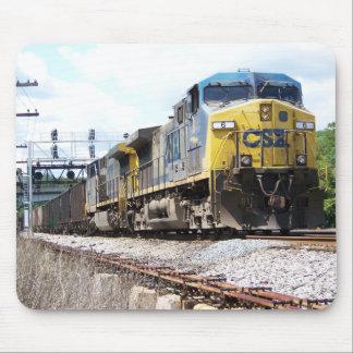 CSX Railroad AC4400CW #6 con un tren del carbón Alfombrilla De Ratones