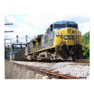 CSX Railroad AC4400CW #6 con un tren del carbón Postal