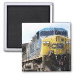 CSX Railroad AC4400CW #6 With a Coal Train 2 Inch Square Magnet