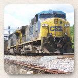 CSX Railroad AC4400CW #6 With a Coal Train Drink Coaster