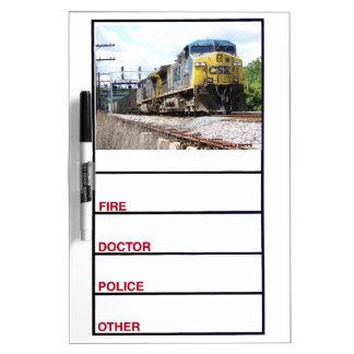 CSX Railroad AC4400CW #6 With a Coal Train Dry Erase Board